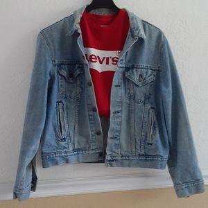 VTG TUCKER LEVI'S👍mens jean jacket